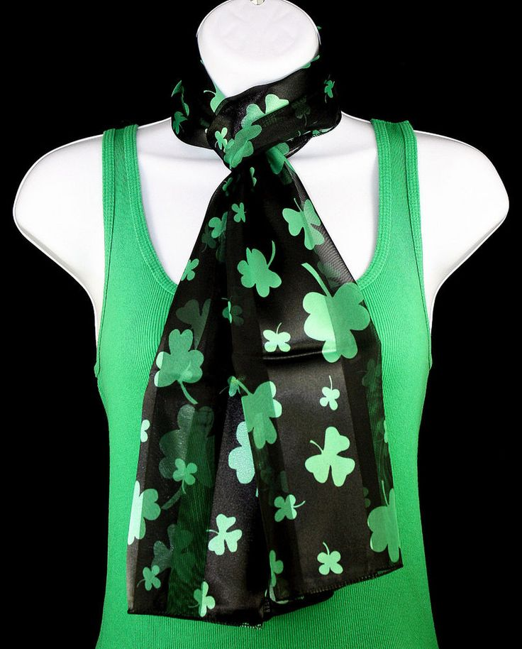 new st s day womens scarf green shamrock