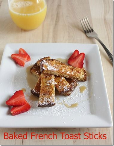 Quick and easy baked French toast sticks | in the kitchen | Pinterest