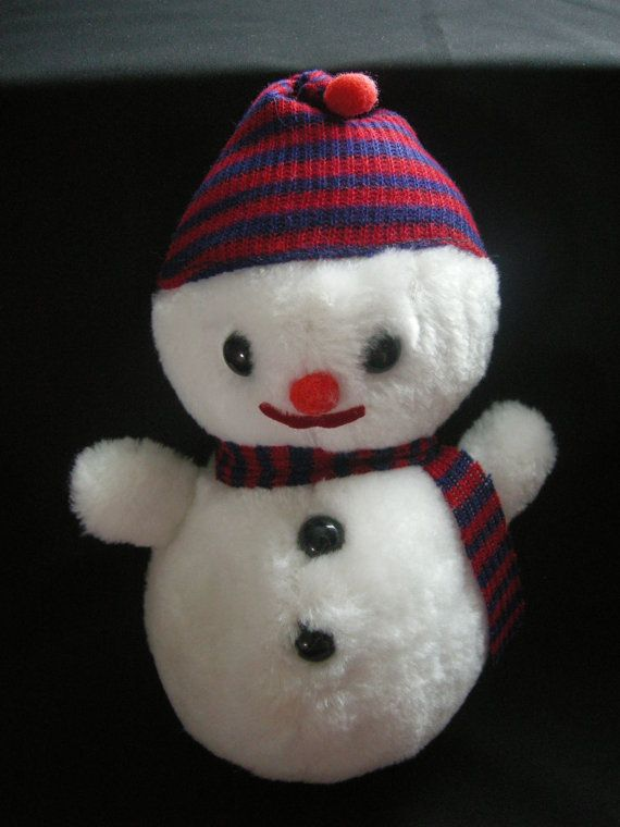 Vintage Winter/Christmas stuffed snowman by by ThatSomethingExtra, $12 ...