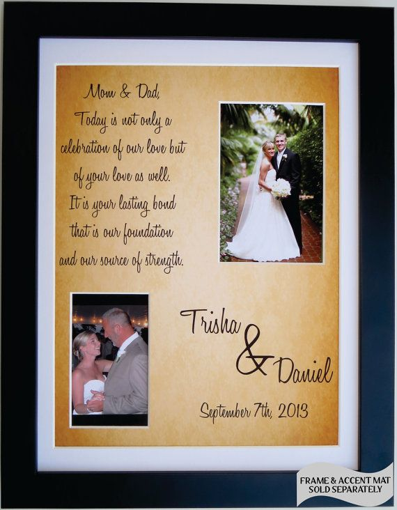 Thank You Wedding Gifts For Parents Ideas : Thank You Wedding Gift for Parents of Bride Groom: Personalized Father ...