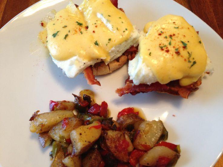 Turkey bacon egg white Benedict | Breakfast | Pinterest