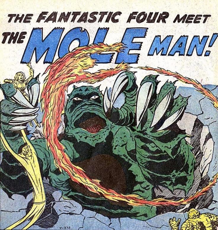 Fantastic Four >> The Fantastic Four vs Mole Man | Fantastic Four | Pinterest