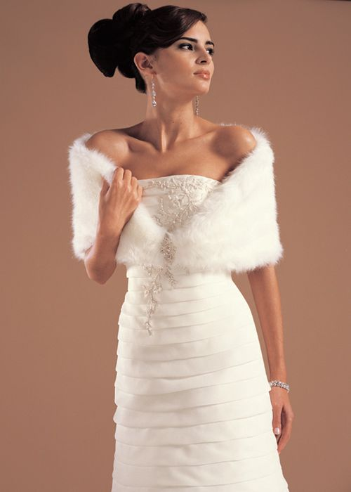 Winter wedding dresses with fur party ideas special for Winter wedding party dresses