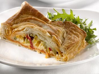 "Cheese and Pepper Jalousie""-- quick and delicious, made from puff ..."