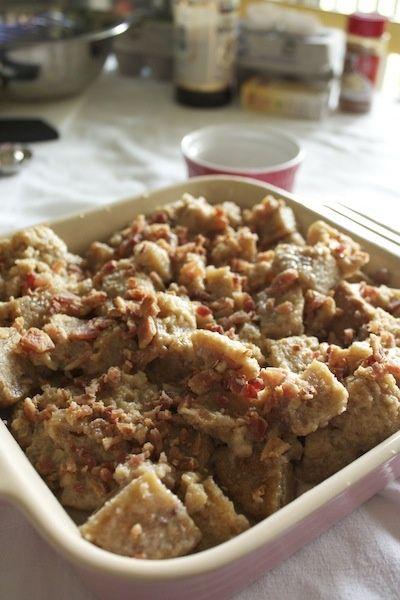 Maple Bacon Cupcake Bread Pudding. | Ooey Gooey & Chewey | Pinterest