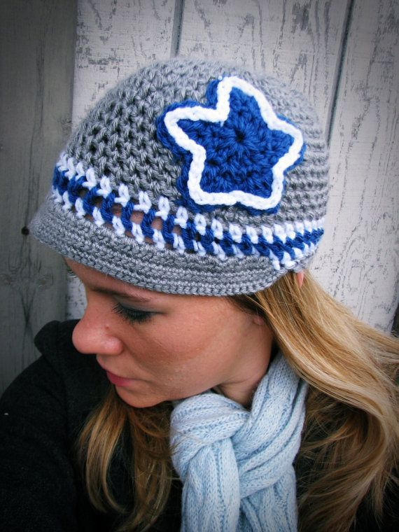 Dallas Cowboys Crochet Hat - Adult Size