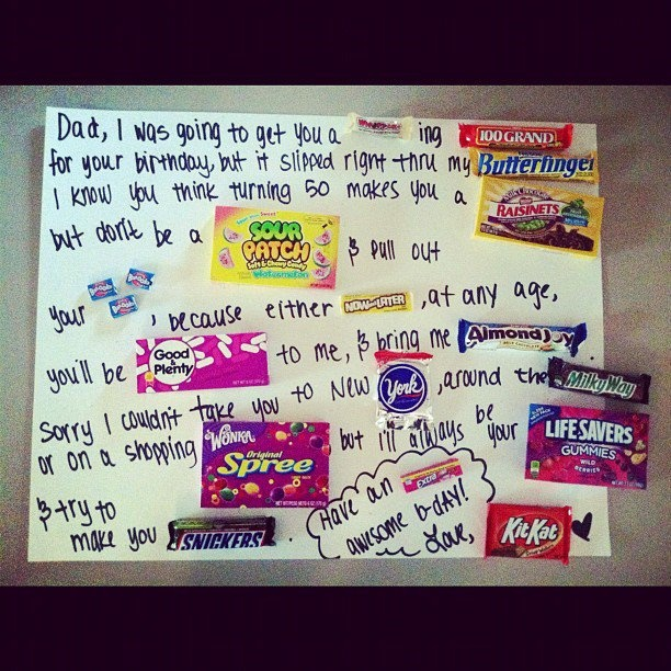 dad's birthday card made with candy :D #fathersday #crafts #candy