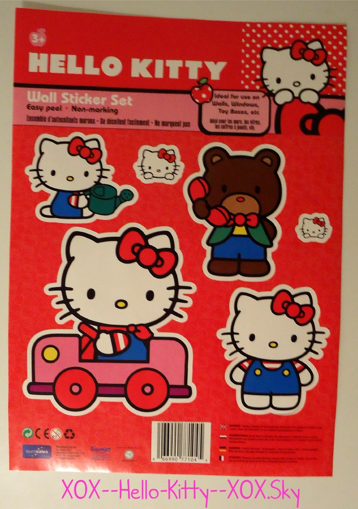 Hello Kitty Wall Stickers  ⊱ My Hello Kitty Collection ...