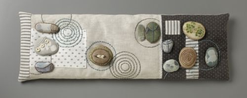 Captured Magic - fabric, rocks, stitches