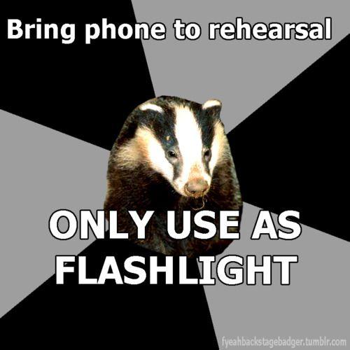Flashlight phone