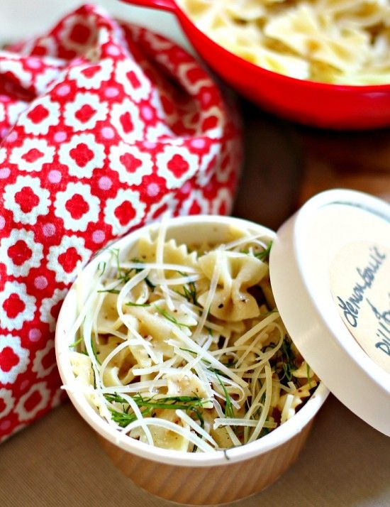 Lemon, Garlic and Dill Pasta is perfect with grilled salmon!