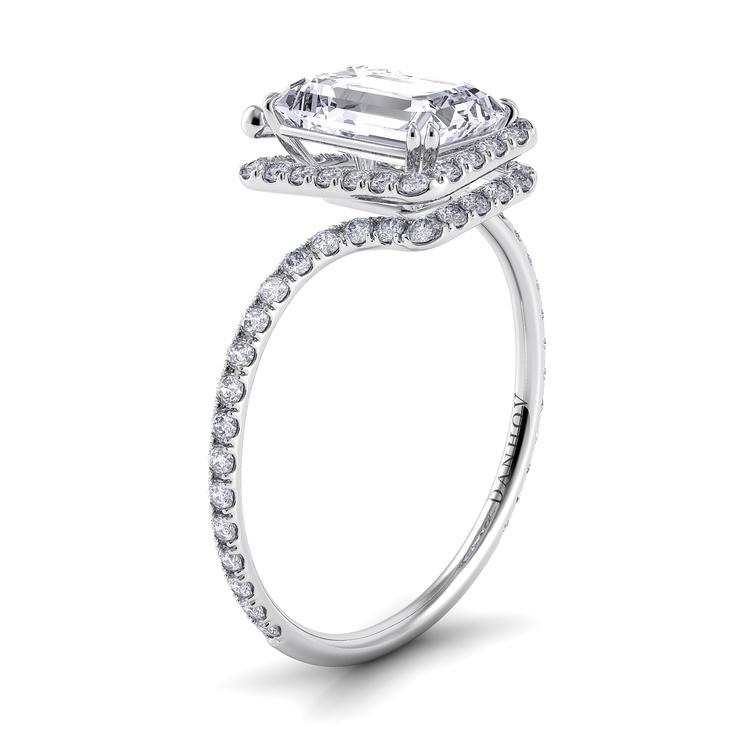 unique emerald cut ring engagement rings