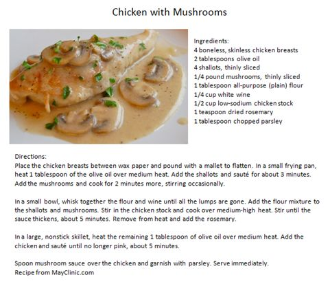 Chicken with Mushrooms | Time to Eat | Pinterest