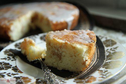 Almond Buttermilk Cake With Cherries Recipe — Dishmaps