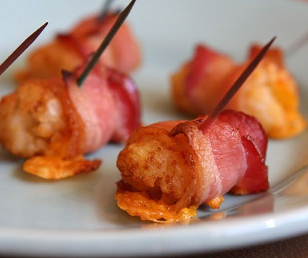 Bacon Wrapped Tater Tots | BroEats | Bacon!! | Pinterest