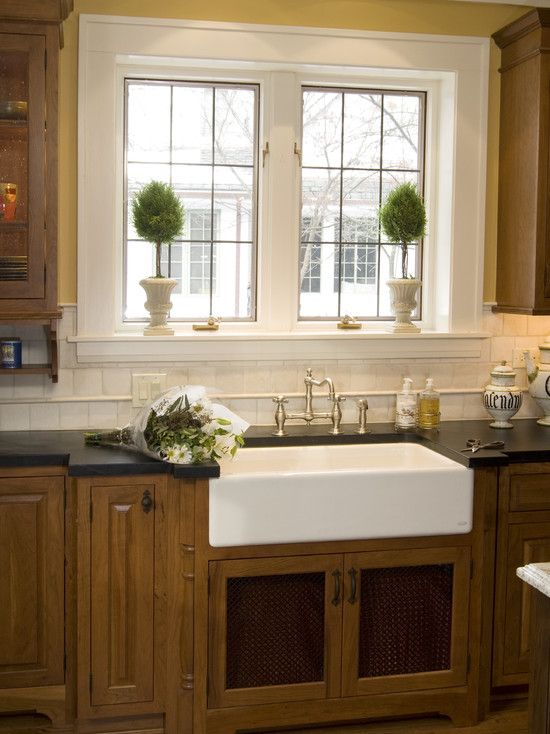 Love the farmhouse sink and double windows
