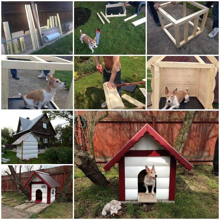 Diy outdoor dog house dogg pinterest for Diy outdoor dog house