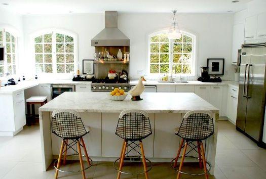 White kitchen w island seating  dreams  Pinterest