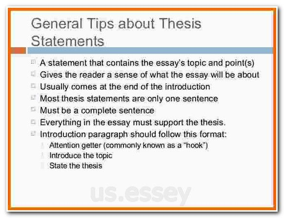 Thesis statement for informative speech generator