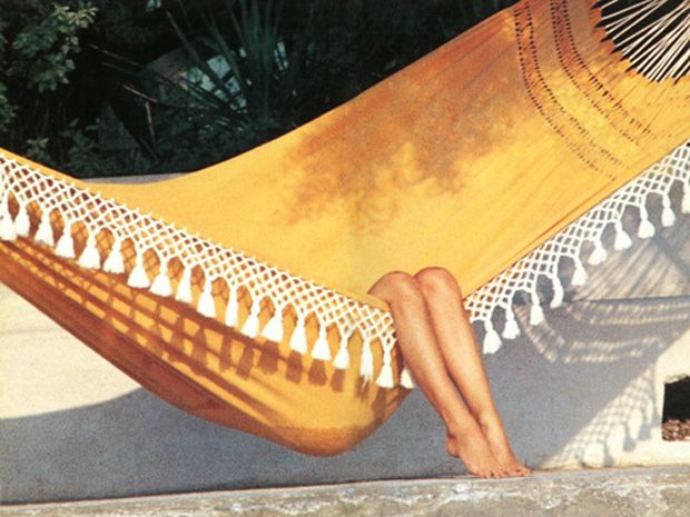hammock with macrame