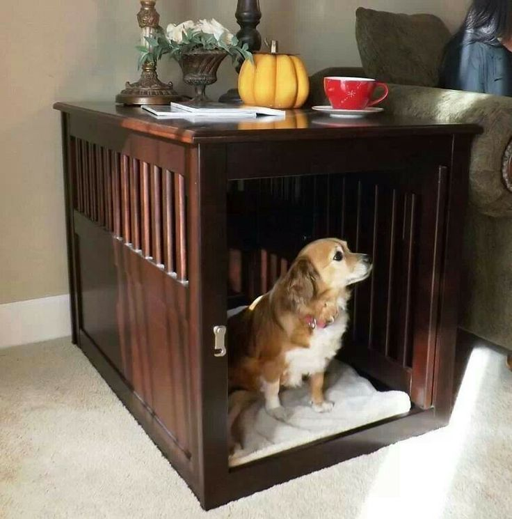 Dog Crate Table Pets Pinterest