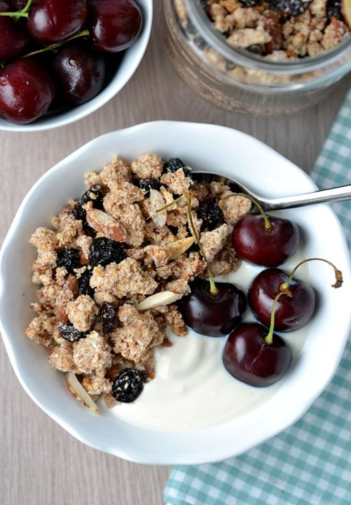 Cherry coconut almond pulp granola with coconut and cherries. Make use ...