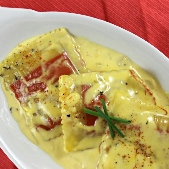 Lobster Ravioli Shrimp Cream Sauce Lobster Ravioli Cream Sauce