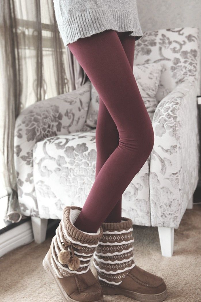 Super warm and cozy fleece leggings