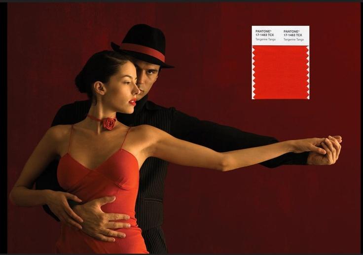 """Mandarina Tango"" imagen via Pantone 2013 Homes + Interiors Webinar@diariodeltraje"