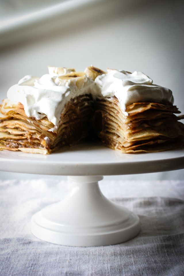 Sliced Bananas Foster Crepe Cake | Sweet Treats | Pinterest