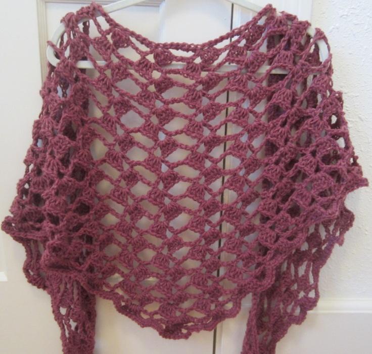 Lace Triangle Shawl Crochet Pattern : Crochet Pattern Open Lace Spring Summer Shawl