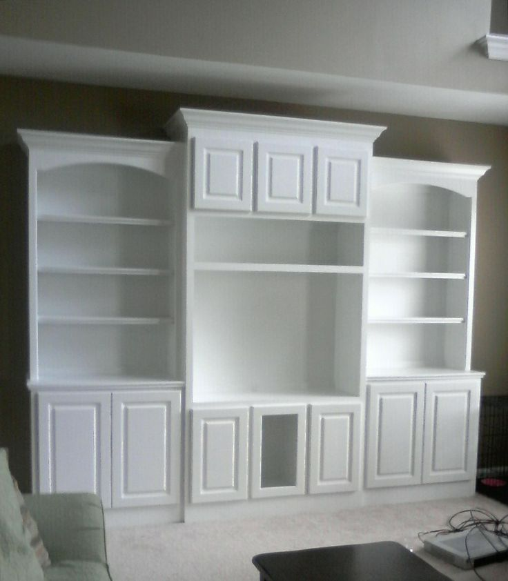 Built In Entertainment Center Downstairs Family Room