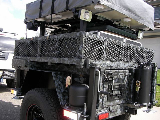 Jeep Off Road Camping Trailer Car Interior Design