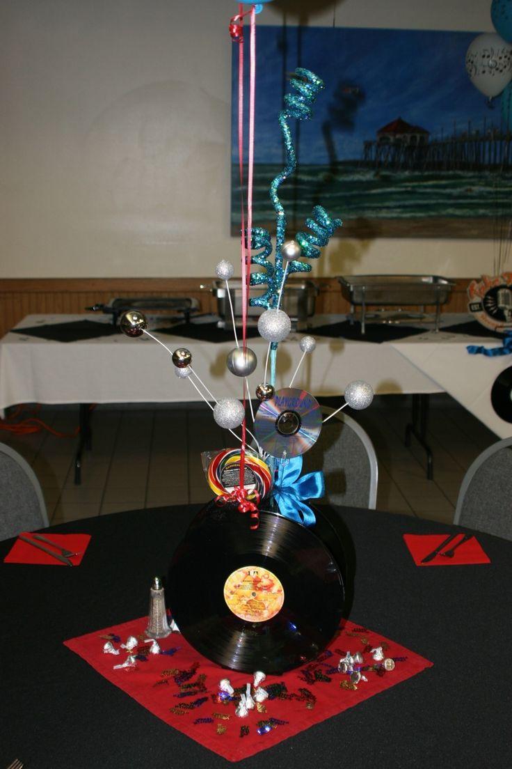Record centerpiece decorations pinterest for Record decoration ideas
