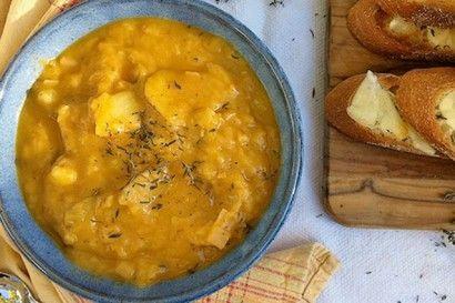 Potato Leek Soup with Smoked Cheese Toast | Recipe