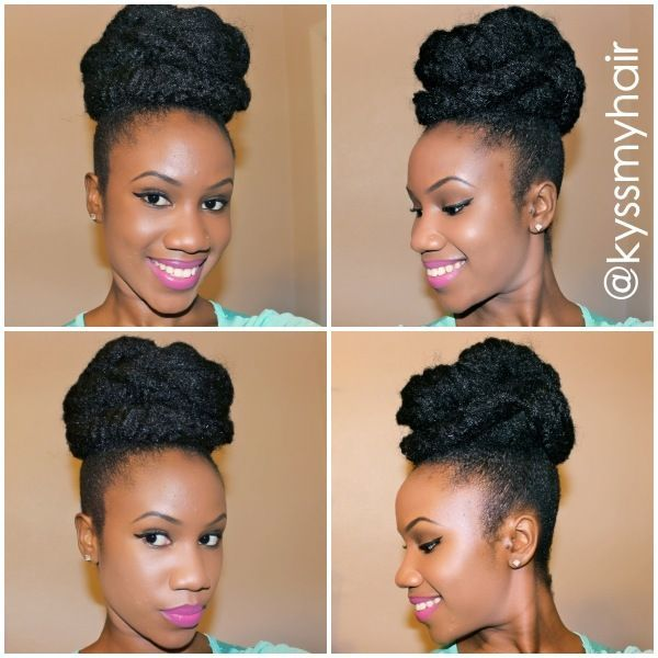 natural hairstyles with perm rods : Marley Hair protective style