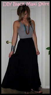 Simply Audree Kate: DIY maxi skirt from thrifting