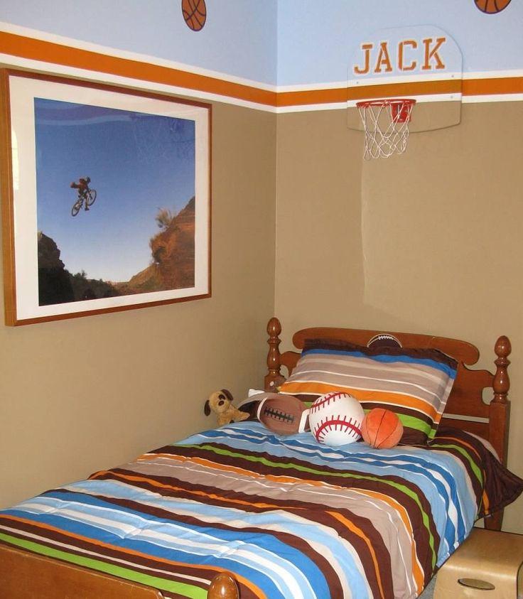 Boys basketball bedroom home pinterest - Basketball bedroom ...