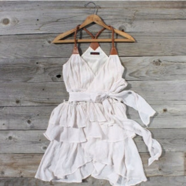 Graduation dress. Omg this is SO cute! With cowboy boots!?