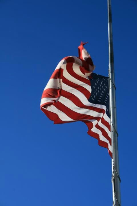 flag half mast president's day