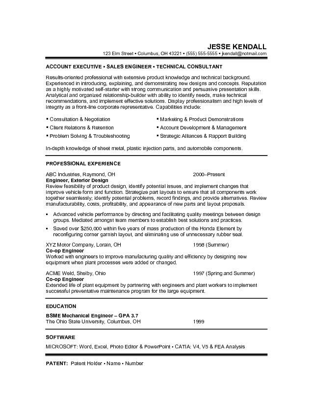 Resume For Job Transition