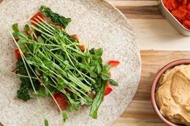 img 0755 sneaky red lentil hummus amp kitchen sink veggie wrap