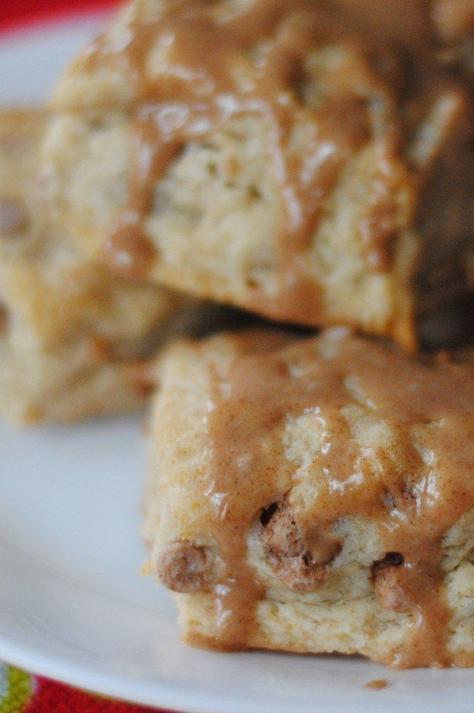 """cinnamon roll"""" scones - really good and easy. Couldn't find cinnamon..."""