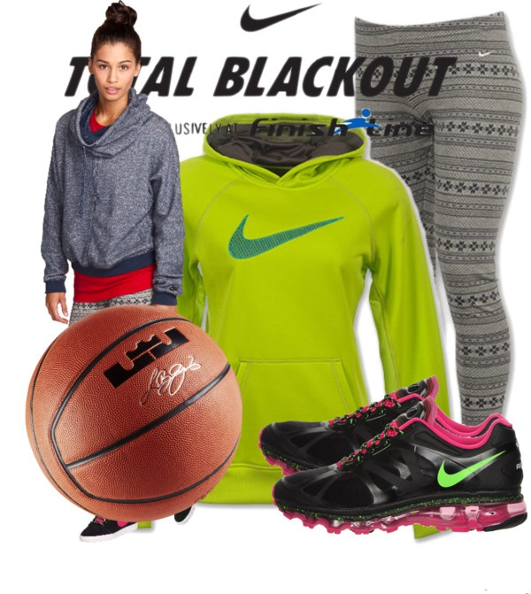 Nike Total Blackout by loud-ambition liked on Polyvore