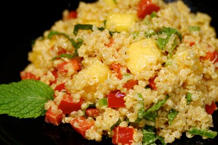 Quinoa with Mango and Curried Yogurt — The curry and peppers are ...