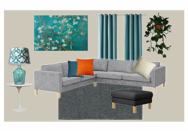 Teal and gray living room house pinterest for Gray and teal living room