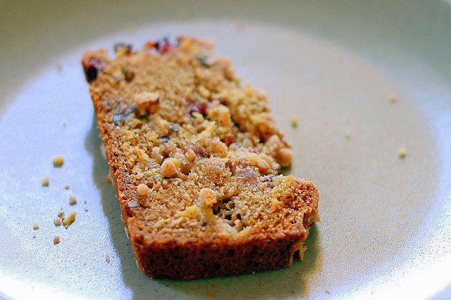 strawberry rhubarb pecan loaf cake by smitten, via Flickr