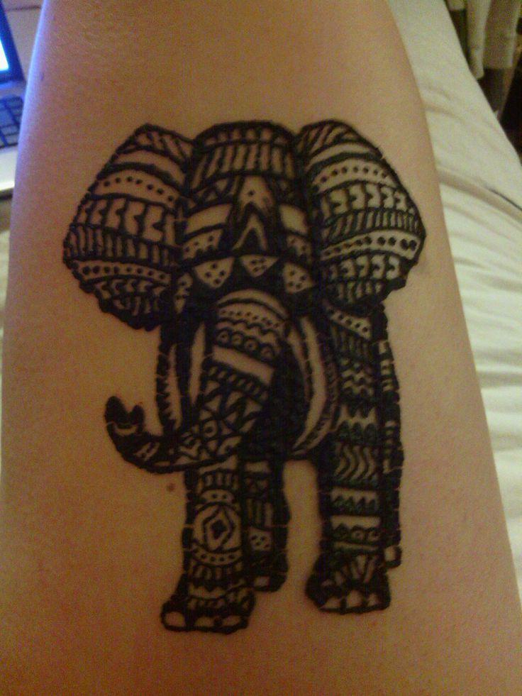 Mehndi Elephant Tattoo : Henna elephant pinterest