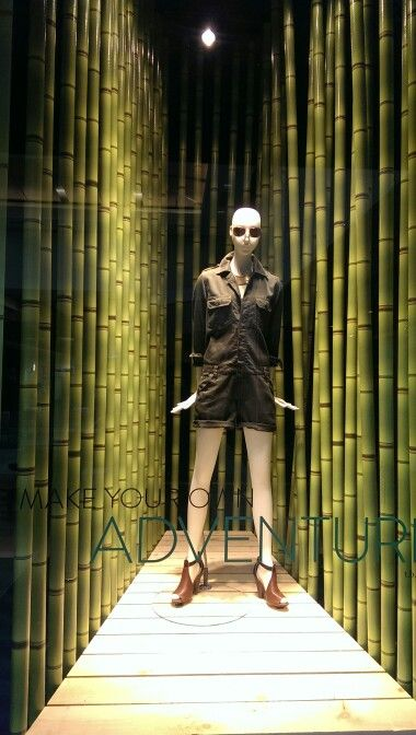 ... green! Nordstrom's window display at Fashion Place Mall, SLC Utah