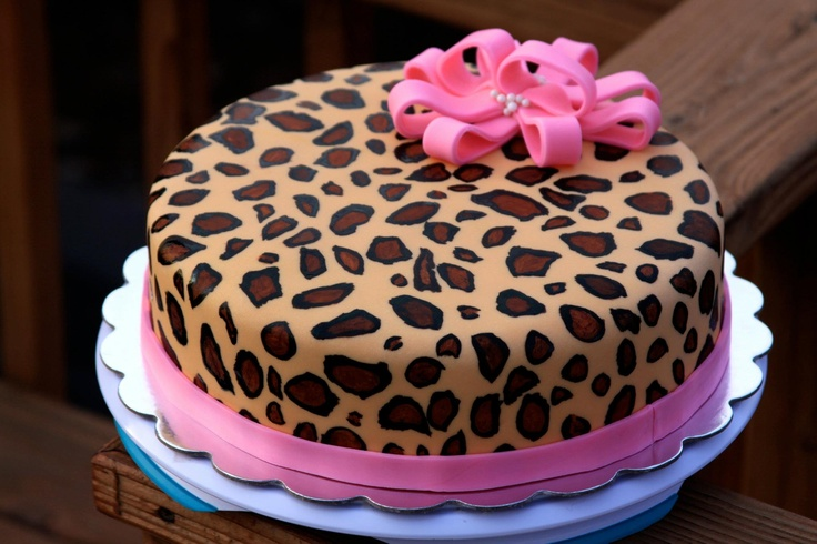 Leopard Print Birthday Cakes Uk